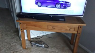 Pine TV Stand, Fish Tank Stand, Sofa Table - Many Uses for this item!!