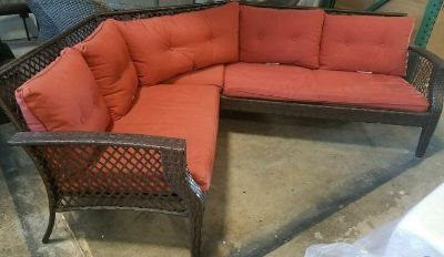 Outdoor Red Patio Sectional