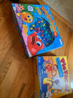 Let s Go Fishing XL AND PIE FACE in excellent condition with all pieces! See pics!