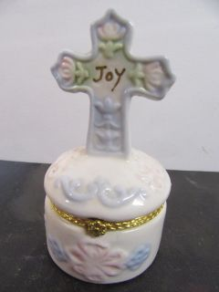 """mint condition Rosary Box 4"""" tall 2 1/4"""" wide"""
