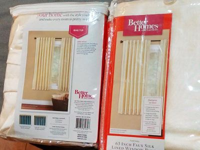 """2 new ivory 54"""" by 63"""" window curtain panels"""
