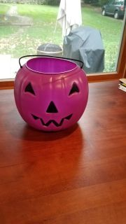 EUC Plastic Purple Pumpkin for Trick or Treating or Candy Bucket