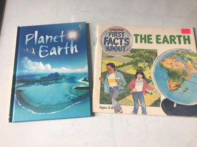 New and vintage books about earth
