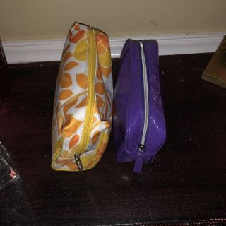 2 Clinique Makeup Bags ~ GUC!!! Both Squared off For Ease of Use!!!