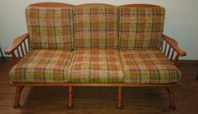 Conant Ball Wood Frame Sofa Couch Furniture Retro1949