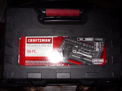 58 pc craftsman toolset