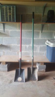2 Shovels. $10 For both