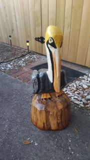 Pelican Chainsaw Carving- New!