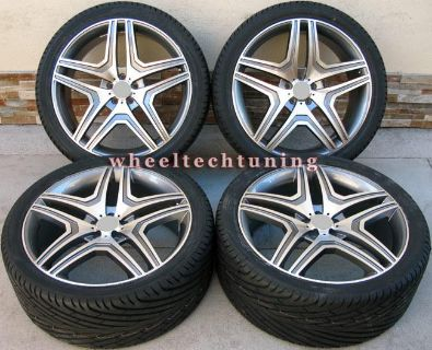 "Sell 20"" MERCEDES BENZ WHEEL AND TIRE PACKAGE - RIMS FIT MBZ GL450 AND GL550 GUNMETAL motorcycle in Glendale, California, US, for US $1,550.00"