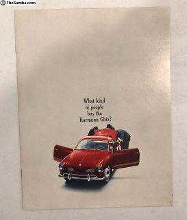 1964 Karmann Ghia 3 page sales brochure