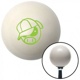 Find Green Rally Pig Ivory Shift Knob with 16mm x 1.5 Insertpull weighted resin motorcycle in Portland, Oregon, United States, for US $29.97