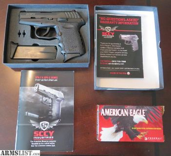 For Sale: SCCY 9mm Luger Pistol