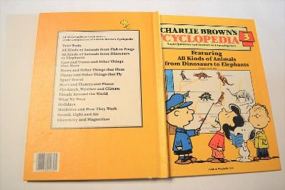 Vintage 1980 Charlie Brown's Cyclopedia Volume 3 Hard Cover Book Featuring All Kinds of Animals