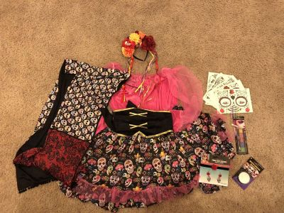 Day of the Dead Costume plus size lot
