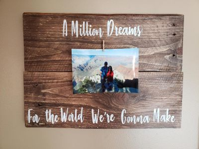 Greatest showman inspired photo sign