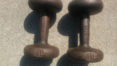 cast iron 15 lbs weights