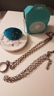 Origami Owl Locket, 2 chains, and owl charm