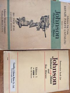 Outboard motor and seahorses instruction booklet for Johnson 1929
