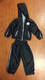 3T Pittsburgh Steelers hooded jacket and pants