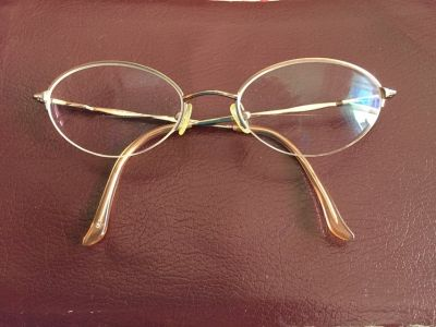 Gold Frames for glasses by Kenmark, Hush Puppies (Clip on Sunglasses for additional $5)