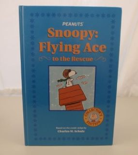 Peanuts Snoopy Flying Ace to the Rescue Collector s Edition Hard Cover Book