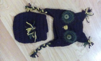 Crochet hat and diaper cover