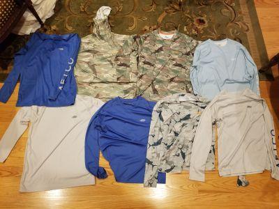 (8) AFT-CO performance shirts medium