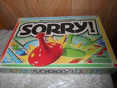 Parker Brothers SORRY Board Game! Excellent Condition!