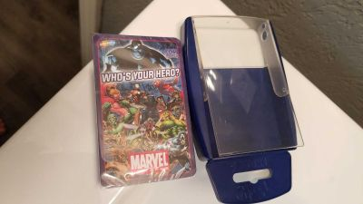 NewMarvel Super Heroes card game and card holder