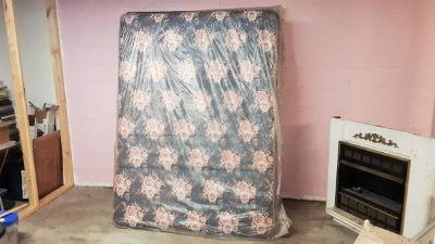 Queen mattress and box springs new in the plastic. 225.00.