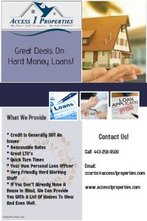 Great Deals On Hard Money Loans!