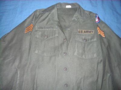 Vintage Military Shirts with Patches