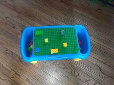 Lego Duplo preschool play table and building block lapdesk