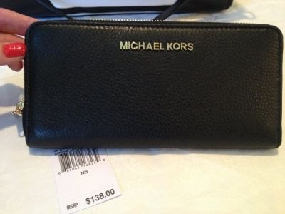 Michael Kors Black Leather Wallet - New