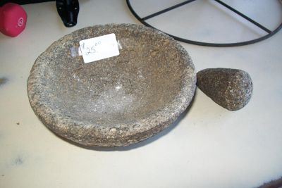 from MEXICO, a real LAVA Stone MOLCAJETE