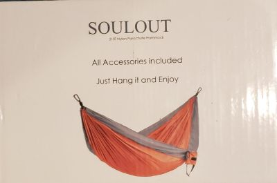 *NIB* SOULOUT Double Camping Hammock