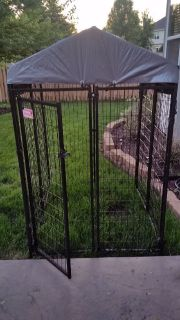 Nice Menards 4X4X6h Dog Run - Cage with brand new canopy .