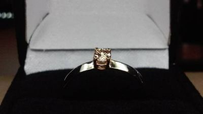 Solid Gold Champagne colored diamond ring