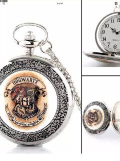 Harry Potter s Hogwart pocket watch on neck chain Unisex can be covertred to mans pocket watch.new