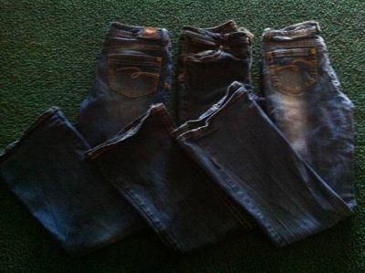 Girls size 14 justice flare jeans 3 pairs
