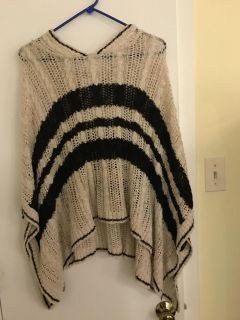 Justice sweater poncho.