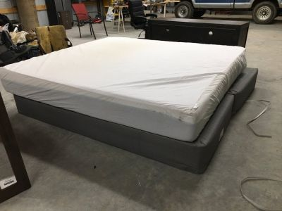 King size memory bed with frame