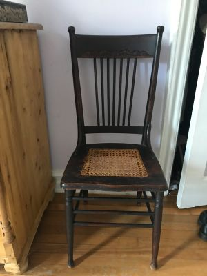 Antique cane seated side chair