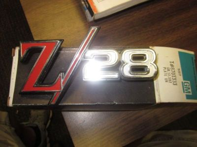 Sell 69 Camaro GM NOS Z28 Tail Panel Emblem #8701333 motorcycle in Houston, Texas, United States, for US $100.00