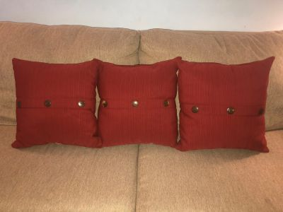 3 Outdoor Pillows. Like new condition