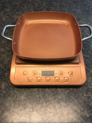 Copper Chef Induction Cooktop with 11 inch square pan
