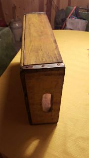 Vintage yellowish colored wood crate