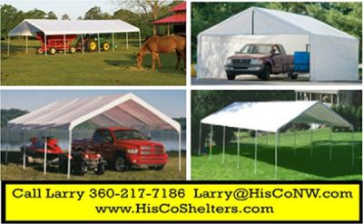 Weather Shield and Shade Canopies! 20ft to 40ft long