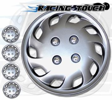 """Sell Metallic Silver 4pcs Set #501 14"""" Inches Hubcaps Hub Cap Wheel Cover Rim Skin motorcycle in La Puente, California, US, for US $26.25"""