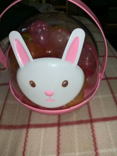 Easter bunny container filled with eggs